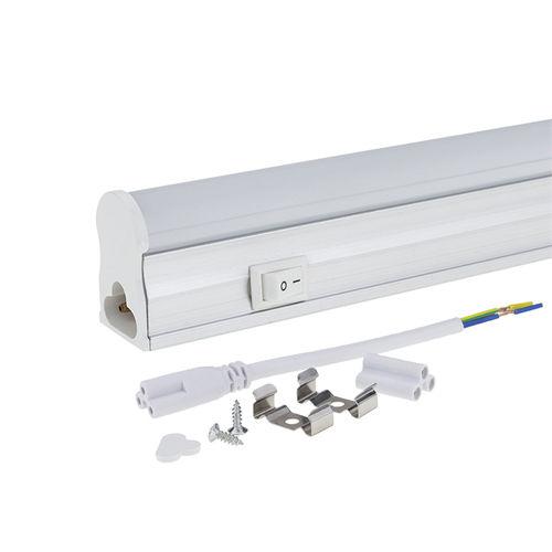 5523-TUBE LED T5 AVEC BASE ET INTERRUPTEUR 31CM BLANC CHAUD 4W :: + infos - Devis