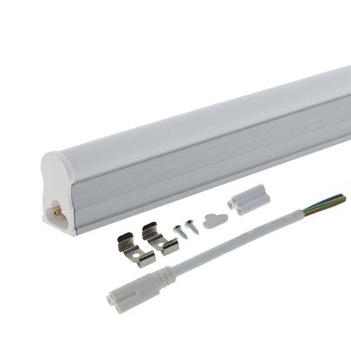 5653 :: TUBE LED T5 AVEC BASE 31CM BLANC PUR 4W