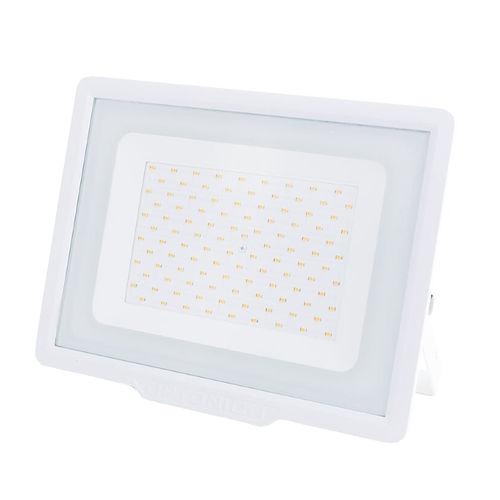 5914-PROJECTEU LED ETANCHE CORPS BLANC 100W BLANC CHAUD :: + infos - Devis