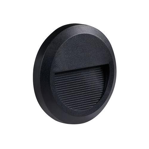 7503-LED ROND NOIR POUR ECLAIRAGE ESCALIER 2W BLANC CHAUD :: + infos - Devis
