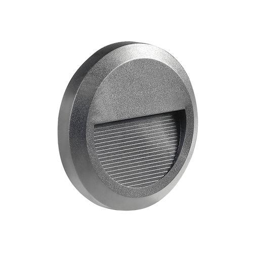 7507-LED ROND GRIS POUR ECLAIRAGE ESCALIER 2W BLANC CHAUD :: + infos - Devis