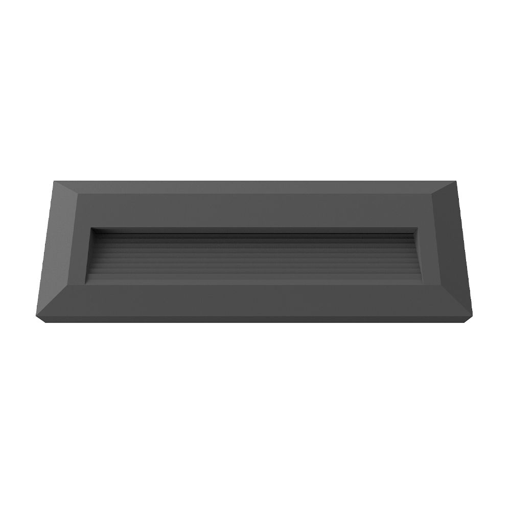 7516 :: LED RECTANGLE NOIR POUR ECLAIRAGE ESCALIER 2W BLANC NATUREL