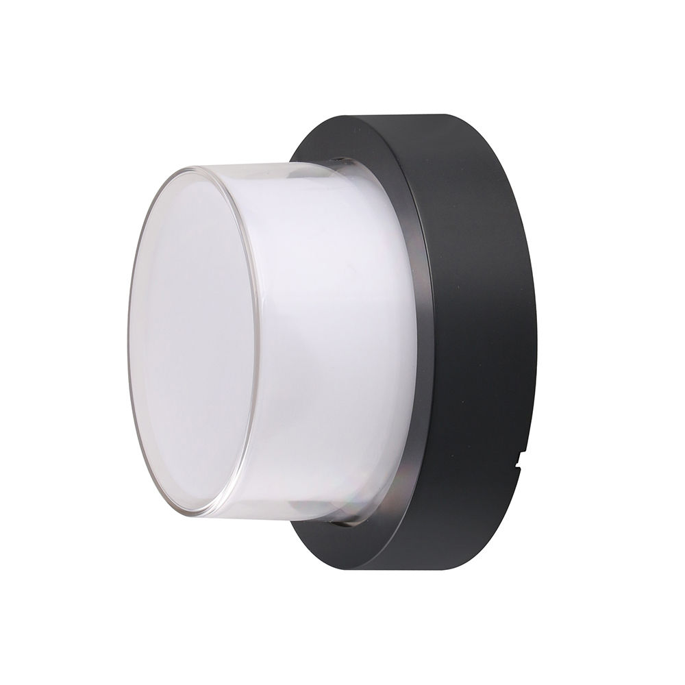 7532-LAMPE MURALE CORPS NOIR IP65 BLANC CHAUD :: + infos - Devis