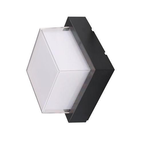 7534-LAMPE MURALE CORPS NOIR IP65 BLANC CHAUD :: + infos - Devis