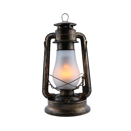 9042-LAMPE FLAMME COULEUR BRONZE 5W 220V AVEC BATERIE :: + infos - Devis