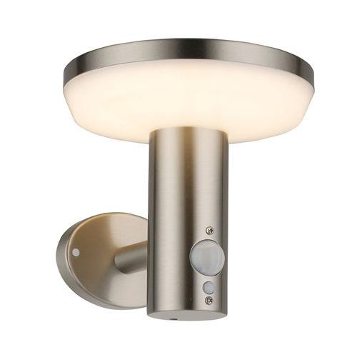 9334-LAMPE LED SOLAIRE MURALE ALUMINIUM 600LM AVEC DETECTEUR :: + infos - Devis