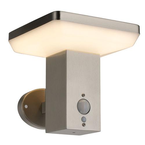 9337-LAMPE LED SOLAIRE MURALE ALUMINIUM 600LM AVEC DETECTEUR :: + infos - Devis