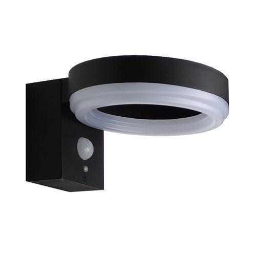 9340-LAMPE LED SOLAIRE MURALE ALUMINIUM 600LM AVEC DETECTEUR :: + infos - Devis