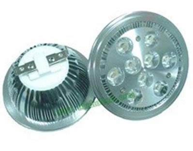 AR1119DY :: SPOT LED AR111 PLAFOND 220V 9W BLANC CHAUD ANGLE 15