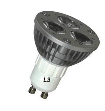 GU10S4VY :: SPOT LED GU10 DIMMABLE 220V 4W BLANC CHAUD