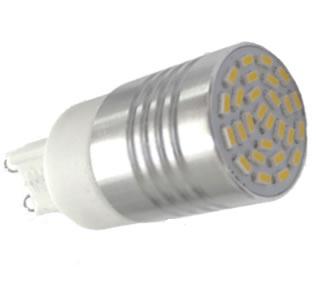 G9A12Y :: AMPOULE G9 LED 12PCS SMD2835 BLANC CHAUD