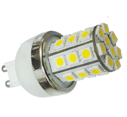 G9E27Y :: AMPOULE G9 LED 4W SMD5050 BLANC CHAUD
