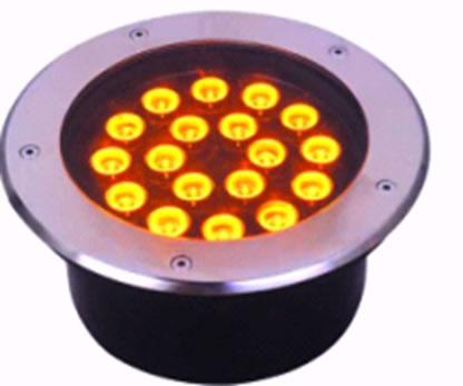 LSB24Y :: LED SOL BLANC CHAUD EN ACIER ET ALUMINIUM 24W