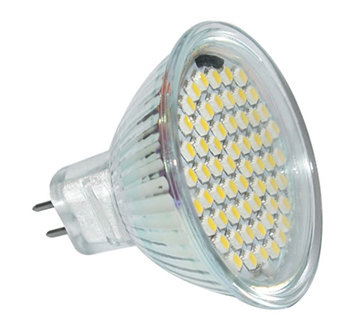 MR16S5PY :: SPOT LED MR16 5W GRAND ANGLE 80SMD BLANC CHAUD