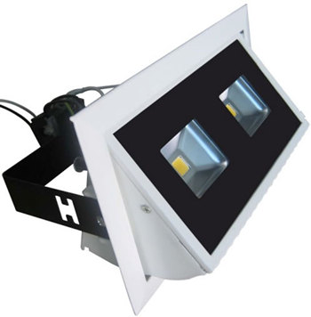 PLD20HY :: SPOT LED DOUBLE 20W ANGLE 135 RECTANGULAIRE ENCASTRABLE ORIENTABLE BLANC CHAUD