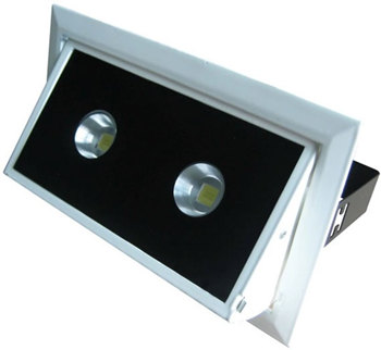 PLD30KW :: SPOT LED DOUBLE 30W ANGLE 60 RECTANGULAIRE ENCASTRABLE ORIENTABLE BLANC PUR