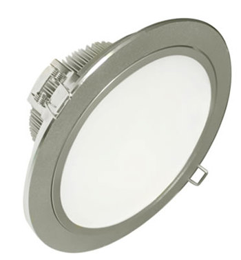 PLD28DZ :: PLAFONNIER LED ORIENTABLE ROND BLANC NATUREL ENCASTRABLE DIMMABLE 28W DE205