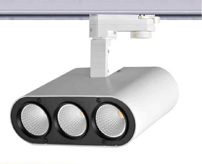 TRA30SY :: PROJECTEUR LED DIMMABLE BLANC CHAUD 30W ANGLE 38 DEGRES POUR RAIL