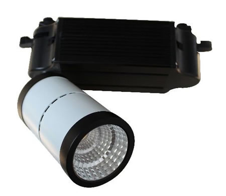 TRA10DW :: PROJECTEUR LED DIMMABLE BLANC PUR 10W ANGLE 20 DEGRES POUR RAIL