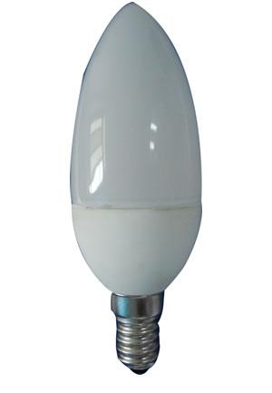 E27F3CW :: AMPOULE LED FLAMME E27  MATE 3W BLANC PUR