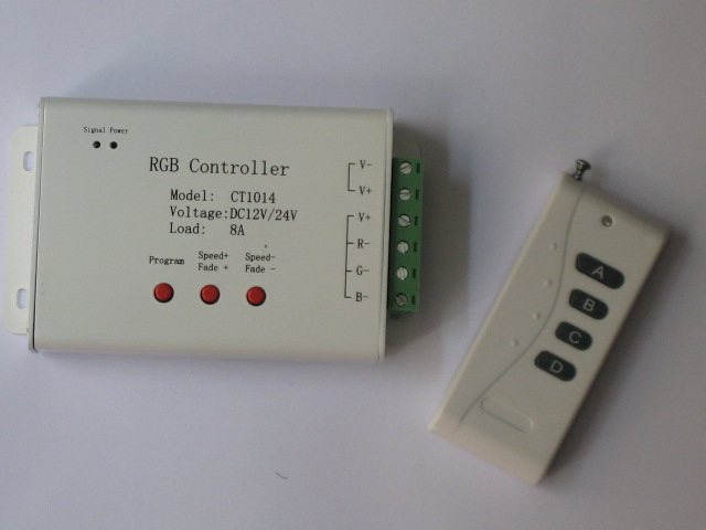 CONTRGBA :: CONTROLEUR LED RGB AVEC TELECOMMANDE 96W
