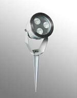PEL9DY :: PROJECTEUR JARDIN BLANC CHAUD 9W 220V AVEC PIQUET