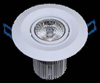 PLD5SY :: PLAFONNIER LED ENCASTRABLE ORIENTABLE 5W 310 LM BLANC CHAUD DE90
