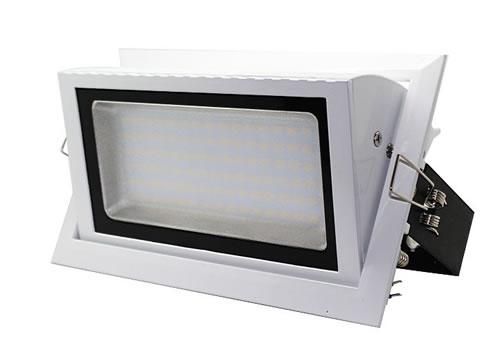 PLDV23Y :: SPOT LED 23W RECTANGULAIRE ENCASTRABLE ORIENTABLE DIMM. BLANC CHAUD