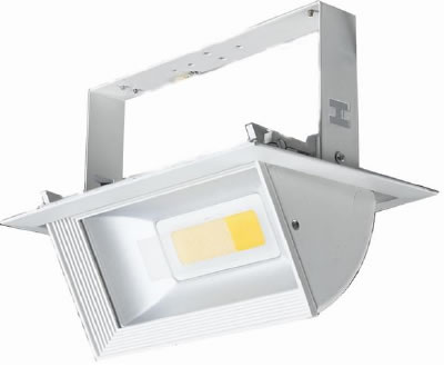 PLDO30Y-SPOT LED DOUBLE 30W RECTANGULAIRE ENCASTRABLE ORIENTABLE BLANC CHAUD :: + infos - Devis
