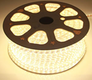 RB220Y :: RUBAN LED 220V 15W EXTERIEUR 100 METRES BLANC CHAUD